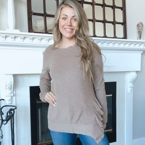 143 Story Anthropologie Oatmeal Ruffle Pullover S